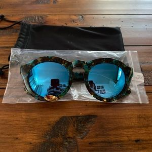 DIFF Eyewear Blue Sunglasses